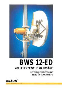 Scie Murale Electrique BWS 12-ED